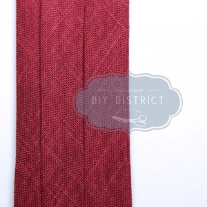 Biais en coton rouge largeur 20mm
