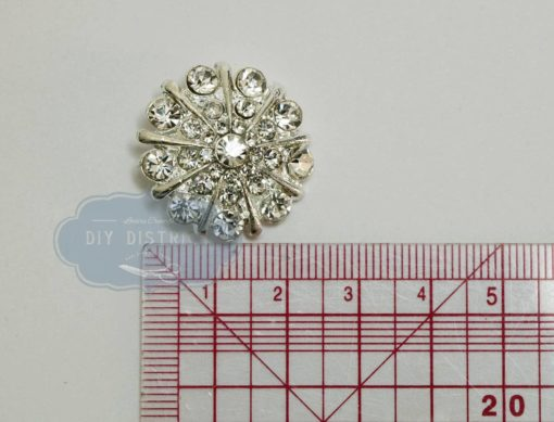 Bouton à queue strass 2,6cm